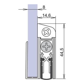 Türdichtung Schall-Ex® GS-8 Nr. 1-407 Ausl.1-s.L.833mm Alu. silberf.