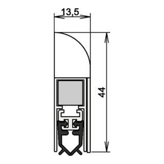 Athmer OHG Wind-Ex Türdichtung Nr.1-310 Auslösung 1-seitig silberfarben elox.