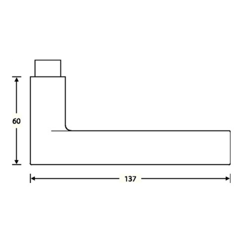 Türdrückerlochteil 10 1021 Alu.0105 8mm DIN R FSB