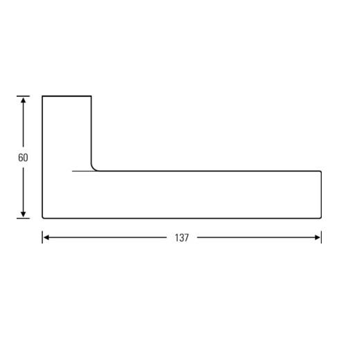Türdrückerlochteil 10 1021 Alu.F1/naturf.4-KT.8mm DIN L FSB