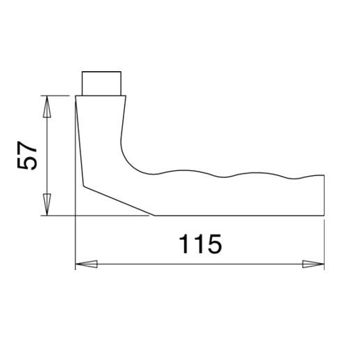 Türdrückerlochteil 125 Z Alu.F1 8mm DIN L/R