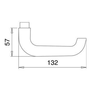 Türdrückerpaar 104Z Alu.0105 o.Rosetten VK 8mm EDI
