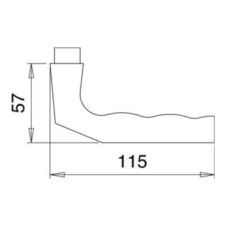 Türdrückerpaar 125Z Alu.0105 o.Rosetten VK 8mm EDI