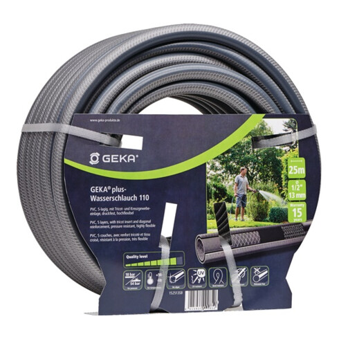Tuyau d'arrosage p. jardin GEKA plus 110 L. 50 m D. int. 25 mm Rouleau KARASTO