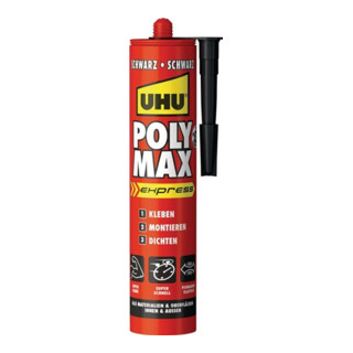 UHU 1K-Hybrid-Polymer POLY MAX EXPRESS 425 g cartridge schwarz 425 g Kartusche