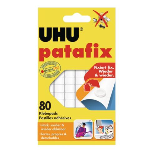 UHU Klebepad patafix 48810 6x14cm weiß 80 St./Pack.