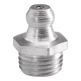 Umeta Kegelschmiernippel H1 DIN71412 M6x1mm Form A SW 7mm 6-kant