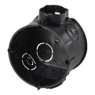 Unterputzschalterdose T.61mm D.60mm IP20 m.4KT-Tunnelstutzen schwarz