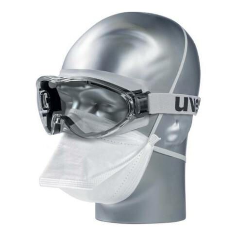 Uvex Vollsichtbrille ultrasonic, UV400 farblos supravision excellence schw/grau