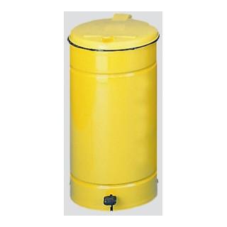 VAR Euro-Pedal Kunststoffdeckel gelb gelb 60 l