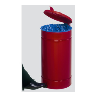 VAR Euro-Pedal Kunststoffdeckel rot 60 l