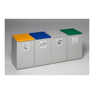 VAR Kunststoffcontainer 4-fach ohne Deckel 60 l