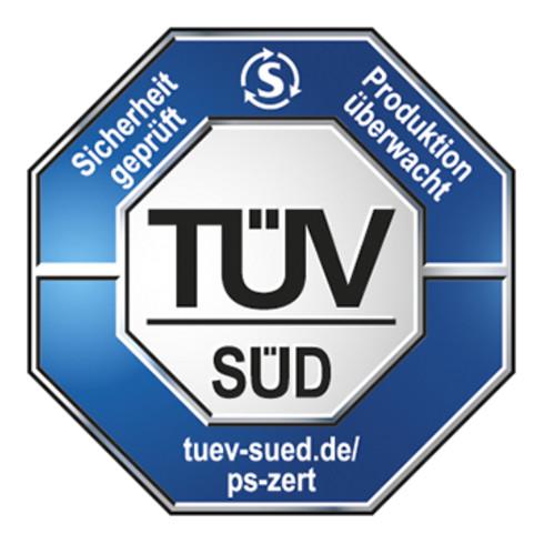 VARIOfit Etagenwagen niedrig 2 Tabletts, Thermoplastische Gummi-Bereifung