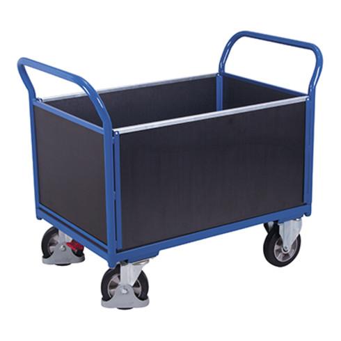 VARIOfit Schwerlast-Vierwandwagen mit Siebdruckplatte, Traglast 1000kg