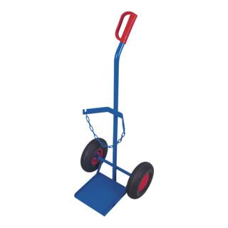 VARIOfit Stahlflaschenkarre 1 x 20 40 oder 50 l Luftbereifung Schaufel 255 x 260 mm