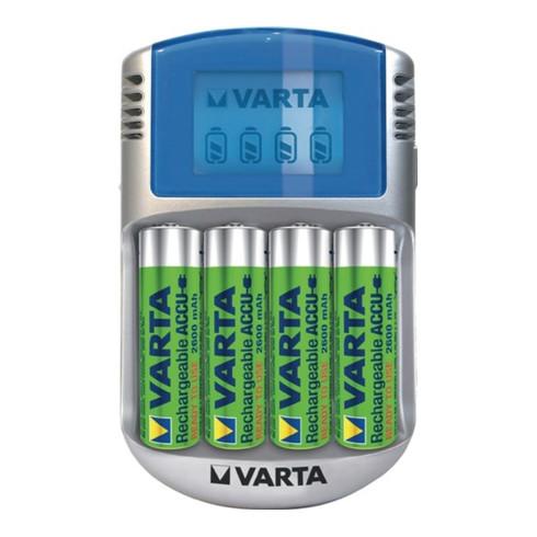 Varta Akkuladegerät LCD Charger f.4 Akkus 4xAA 2600 mAh,12V Adapter,USB Kab.