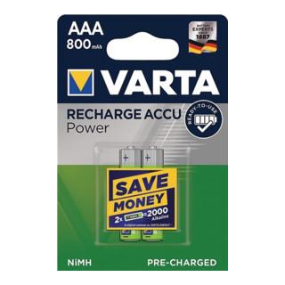 Varta Akkuzelle 1,2 V 800 mAh R03-AAA-Micro HR03 2