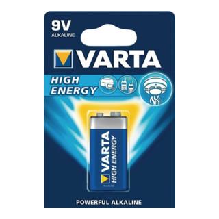Varta Batterie High Energy 9V E-Block 550mAh V-ALK04922