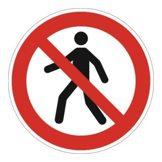 Verbotszeichen ASR A1.3/DIN EN ISO 7010 Fußgänger verboten Ku.