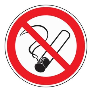 Verbotszeichen Rauchen verboten D200mm Folie selbstklebend rot/schwarz