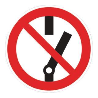 Verbotszeichen Schalten verboten D200mm rot/schwarz Kunststoffschild