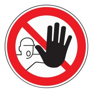 Verbotszeichen Zutritt für verboten D200mm Folie selbstklebend rot/schwarz