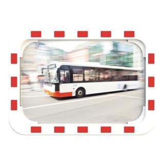 Verkehrsspiegel H400xB600mm Kunststoff,rot/weiß...