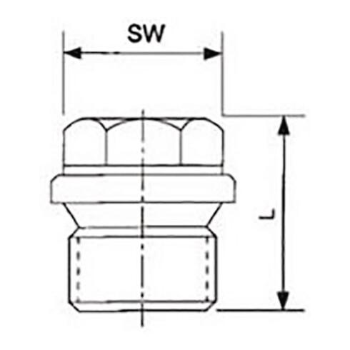 Verschlussschraube DIN 910 ISO 228-1 NPS=1/2 Zoll AG L 26mm SPRINGER