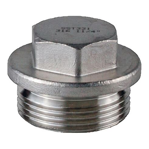 Verschlussschraube DIN 910 ISO 228-1 NPS=2 Zoll AG L 40mm SPRINGER