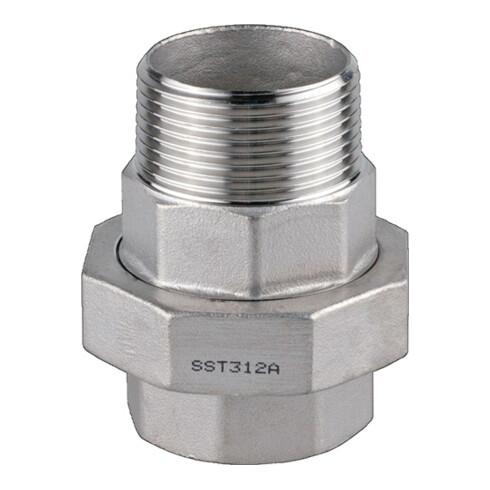 Verschraubung EN 10226-1 NPS 3/8 Zoll kon.dichtend 45mm 12,5mm 12,5mm SPRINGER