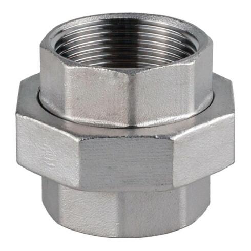 Verschraubung I/I fl.NPS=1/4 Zoll L 30mm L1=12mm L2=9mm SPRINGER