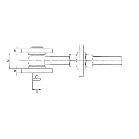 Verstellbares Torband 135x19x44x120x 25x45x12x6mm STA roh Btl.GAH