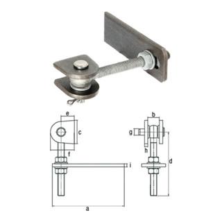 Gustav Alberts Torband für Metalltore 180 Grad Öffnung