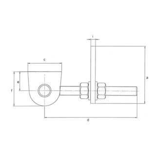Verstellbares Torband 146x23x55x130x 28x50x16x8mm STA roh Btl.GAH