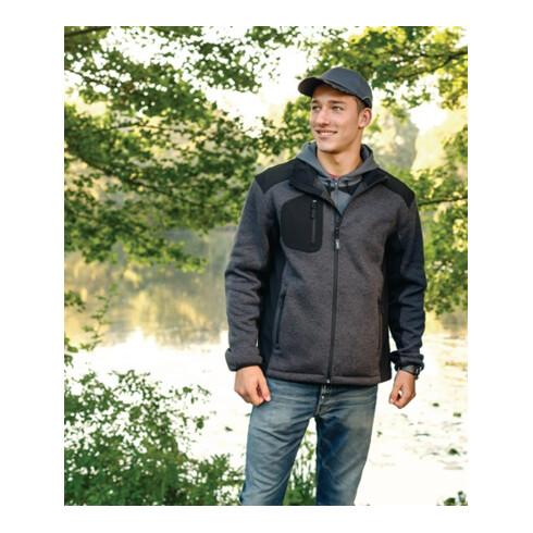 Veste en polaire tricotée Innsbruck taille L gris foncé/noir 100 % PES