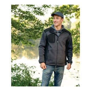 Veste en polaire tricotée Innsbruck taille XXL gris foncé/noir 100 % PES