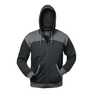 Veste en sweat Florenz taille M noir/gris 80 % CO / 20 % PES ELYSEE