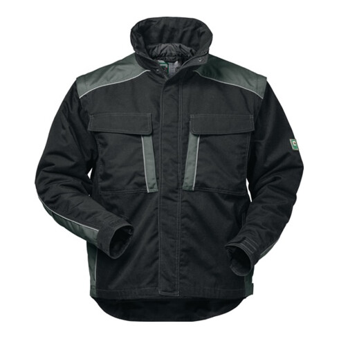 Veste outdoor Canvas 2 en 1 Basel taille XL noir/gris 65 % PES / 35 % CO FELDTMA