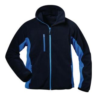 Veste polaire Bussard taille L bleu marine/bleu roi 100 % PES 1 un. CRAFTLAND