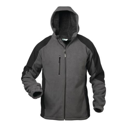 Veste polaire Tampere taille L gris/noir 100 % PES 1 un. ELYSEE