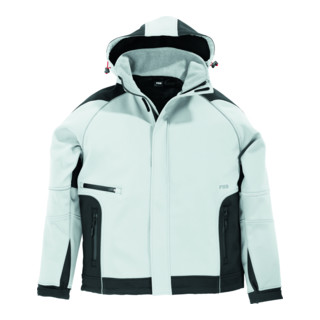 Veste Softsclair Walter taille M blanc/anthracite 96 % PES / 4 % EL