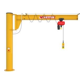 Vetter Säulenschwenkkran ASSISTENT + Verbundanker-System Elektrokettenzu 1000kg, 5,0m