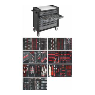 VIGOR VIGOR 1000XL Edelstahl inklusive Sortiment 499-teilig V4481-X/499 ∙ Gesamtlänge: 907 mm ∙ Anzahl Werkzeuge: 499