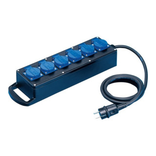 Vollgummiverteiler IP54 H07RN-F3x2,5mm2 L.2m Eingang/Ausgang 6x230V