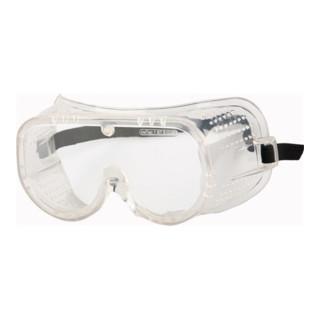 Vollsichtschutzbrille Ku.-Scheiben klar m.Entlüftung ü.Korrektionsbrillen EN166