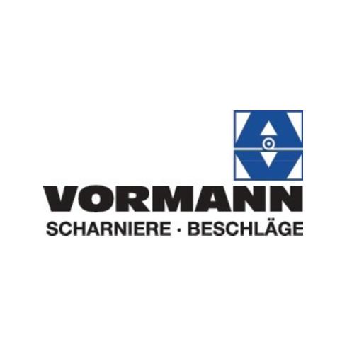 Vormann Gerolltes,breites Tischband H.32mm B.geöffnet 100mm S.1,3mm STA galv.gelb verz.