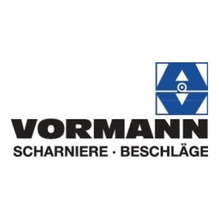 Vormann Gerolltes,breites Tischband H.33mm B.geöffnet 120mm S.1,4mm STA galv.gelb verz.