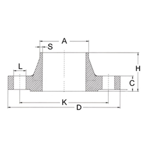 Vorschweißflansch EN 1092-1,TYP 11,76,1 V4A/1.4571