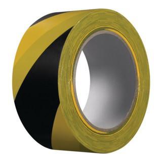 Warnband Extra 339 PVC schwarz/gelb L.33m B.50mm Rl.KIP