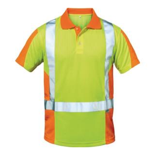 Warnschutz-Poloshirt Zwolle Gr. M gelb/orange 75% PES/25% CO Feldtmann